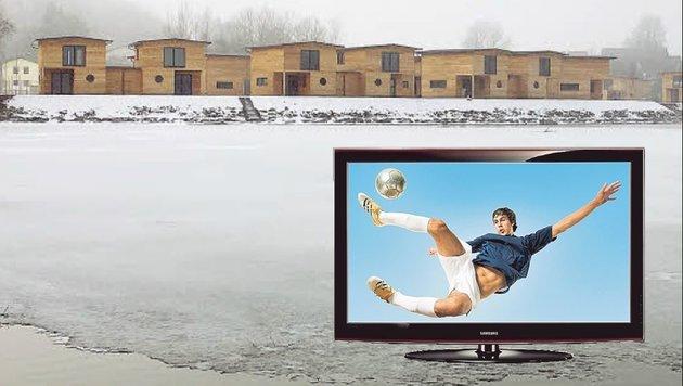 Die Anlage liegt neben der Tainacher Brücke in St. Kanzian: 31 Samsung Fernseher wurden gestohlen (Bild: Alexander Schwab)