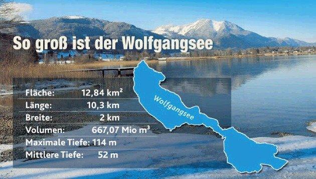 Die neuen Wolfgangsee-Ausmaße. (Bild: Krone-Grafik)