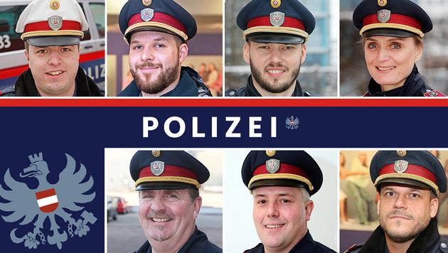 """Die """"Krone""""-Wahl zum Wiener Polizisten des Jahres (Bild: Kronen Zeitung, Polizei)"""