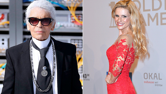 Karl Lagerfeld und Michelle Hunziker kommen zum Opernball. (Bild: AFP, face to face)