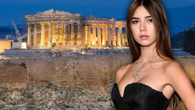 Models vor der Akropolis: Ein No-Go für die Griechen (Bild: AFP/Frazer Harrison, thinkstockphotos.de)