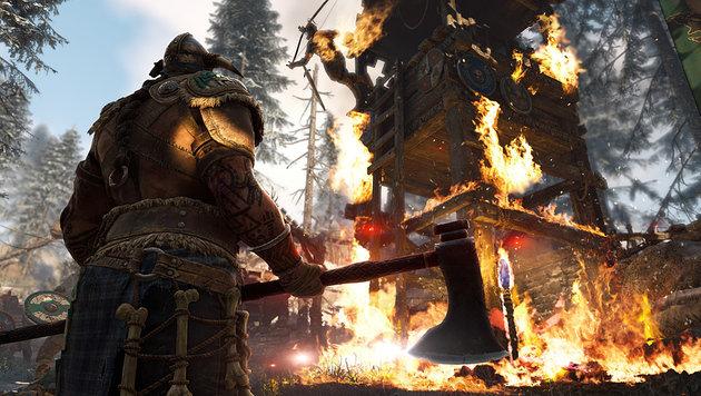 """""""For Honor"""": Da bleibt kaum ein Kopf auf dem Rumpf (Bild: Ubisoft)"""