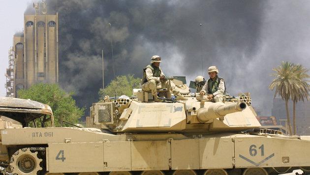 US-Soldaten in Bagdad im Jahr 2003 (Bild: AFP)