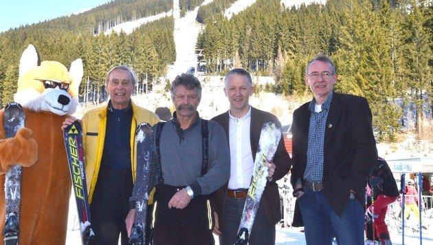 Vertreter der â01EInitiative Polsterlift neuâ01C und der Präbichl-Bergbahnen sind zuversichtlich (Bild: Heinz Weeber)