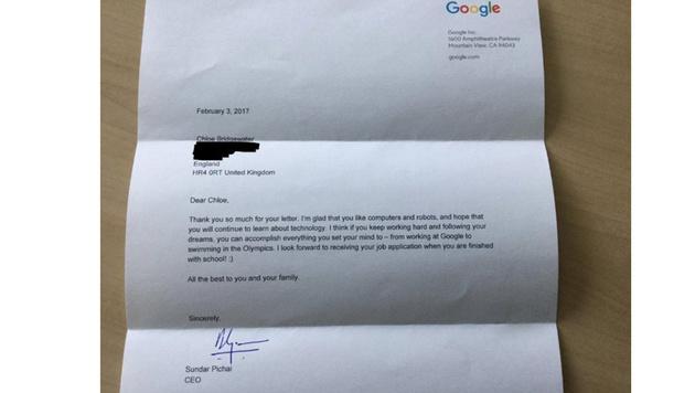 Das passiert Mädchen, das sich bei Google bewirbt (Bild: Andy Bridgewater/businessinsider.de, krone.at-Grafik)