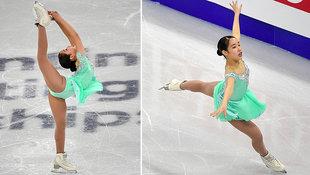 Sportfotos: Sexy Japanerin windet sich auf dem Eis (Bild: AFP)
