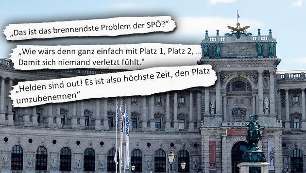 Heldenplatz-Umbenennung: 95 Prozent sind dagegen (Bild: APA/ROLAND SCHLAGER)