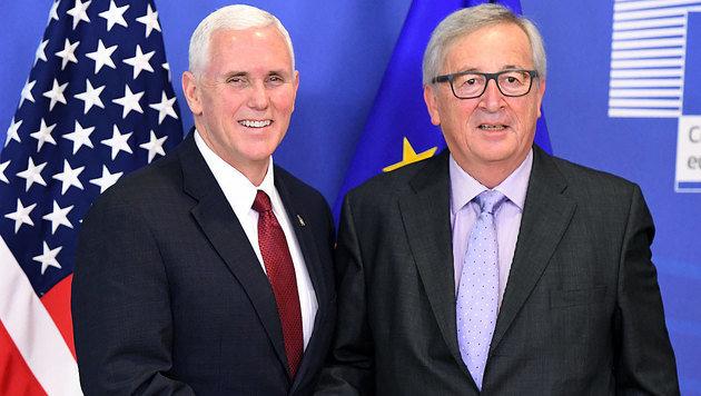 Pence: USA halten an Partnerschaft mit EU fest (Bild: AFP)