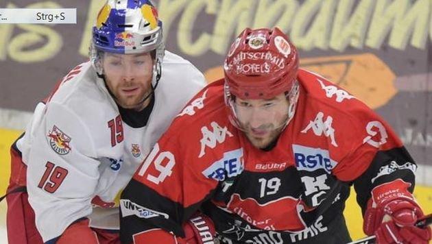 Thomas (li.) war einer von neun Bulls-Torschützen beim Torfestival gegen Innsbruck. (Bild: GEPA)