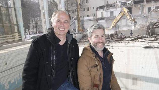 Filmemacher Stefan Aglassinger und Chris Weisz drehen  Imagefilm für gemeinsame Produktionsfirma (Bild: Markus Tschepp)