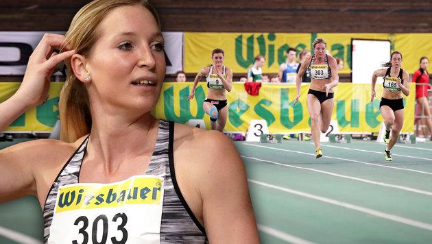 Viola Kleiser beim 60m-Lauf (Bild: GEPA)