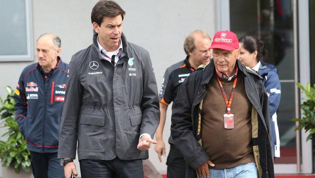 Wolff und Lauda verlängern bei Mercedes bis 2020 (Bild: Sepp Pail)