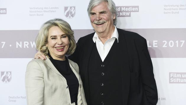 Peter Simonischek mit Ehefrau Brigitte Karner (Bild: Viennareport)