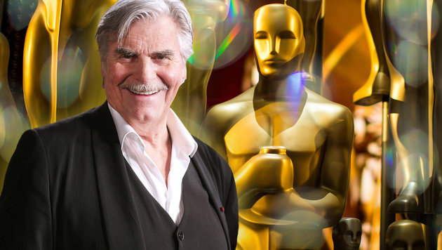 """Peter Simonischek: """"Ein weiter Weg bis zum Oscar"""" (Bild: APA/GEORG HOCHMUTH ,Christopher Polk/Getty Images/AFP)"""