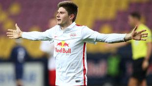 RB Salzburg deklassiert PSG im Achtelfinale 5:0 (Bild: GEPA)
