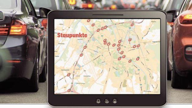 Hier staut es in Salzburg (Bild: Grafik)