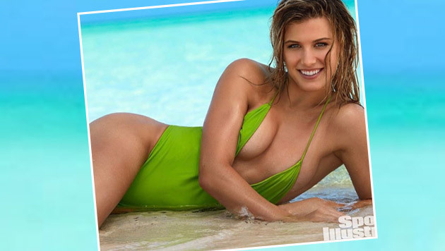 """Lässt sich herzeigen: Tennis-Ass Genie Bouchard posiert für die """"Sports Illustrated"""" im Badeanzug. (Bild: Instagram)"""