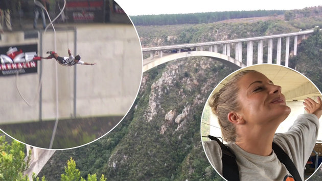 Völlig irre: Der höchste Bungee-Jump der Welt! (Bild: Max Matissek)