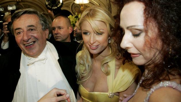 Paris Hilton, Richard Lugner, Christina Lugner (Bild: AP)