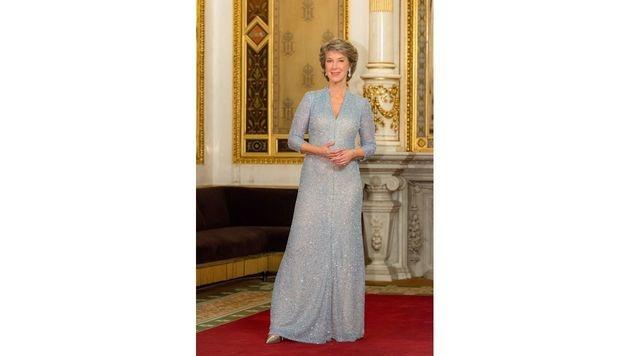 Barbara Rett trägt eine Robe von Dance-Design. (Bild: APA/ORF/THOMAS RAMSTORFER)