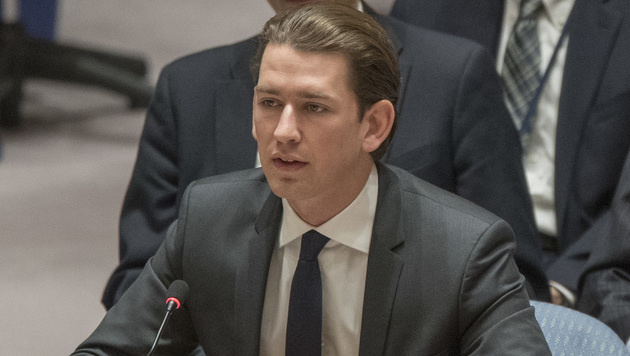 Außenminister Sebastian Kurz (Bild: The Associated Press)