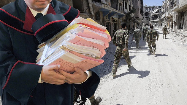 20-facher Mord in Syrien: Mann in Tirol verurteilt (Bild: APA/Barbara Gindl, AFP)