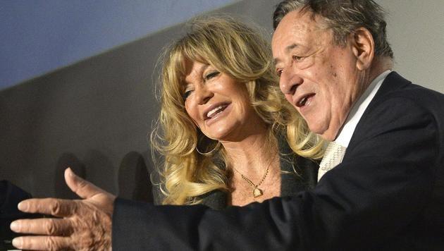 Richard Lugner plant schon Goldie Hawns nächsten Wien-Besuch. (Bild: APA/HERBERT PFARRHOFER)