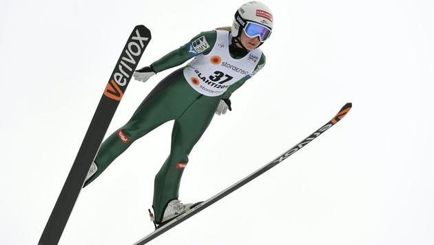 Chiara Hölzl gewinnt Qualifikation für WM-Bewerb (Bild: APA/ROLAND SCHLAGER)
