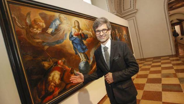 Salzburg Museum Direktor M. Hochleitner bei Rottmayr (Bild: Markus Tschepp)