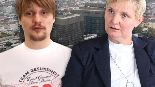 Die SPÖ-Gewerkschaft im Clinch mit Stadträtin Sandra Frauenberger (Bild: Klemens Groh, YouTube.com, Zwefo)