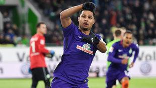 HIER schießt Serge Gnabry Werder Bremen ins Glück! (Bild: GEPA)