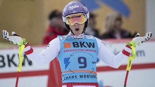 Kirchgasser erobert in Crans Montana Platz drei (Bild: KEYSTONE/ALESSANDRO DELLA VALLE)