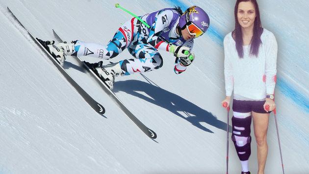 Ski-Schock: Verpasst Anna Veith auch Olympia 2018? (Bild: GEPA, facebook.com)