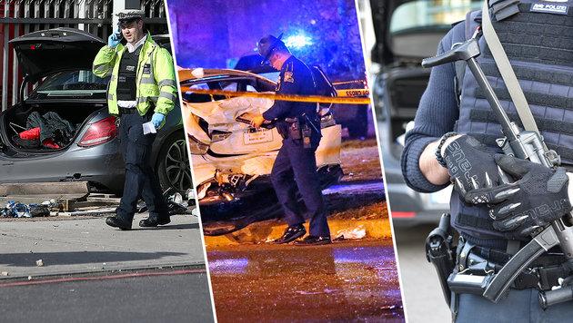3 Amokfahrten in nur 18 Stunden - Toter, Verletzte (Bild: DPA, AFP, AP)