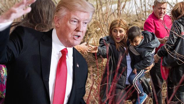 Flucht vor Trumps Politik: Eine kolumbianische Frau überquert illegal die US-kanadische Grenze. (Bild: AP, AFP)