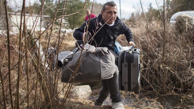 Asylwerber fliehen aus den USA nach Kanada (Bild: AFP)