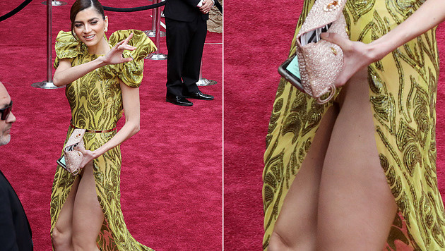 Blanca Blanco zeigte am roten Teppich viel zu viel. (Bild: AFP)