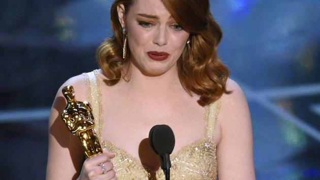 """Emma Stone gewann den Oscar als """"Beste Hauptdarstellerin"""". (Bild: Chris Pizzello/Invision/AP)"""