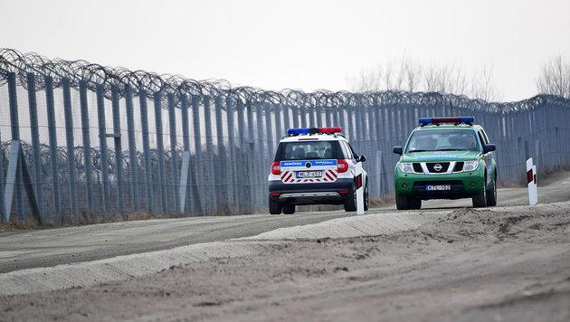 Ungarns Grenzzaun zu Serbien nahe der Ortschaft Asotthalom (Bild: AFP/Attila Kisbenedek)