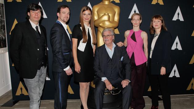 Da war Peter Simonischek noch dabei: bei der Vorstellung der besten Auslandsfilme am Wochenende (Bild: AFP)
