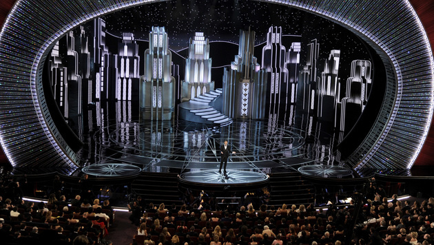 Die Oscarbühne wurde mit 300.000 Swarovski-Kristallen verziert. (Bild: 2017 Invision)