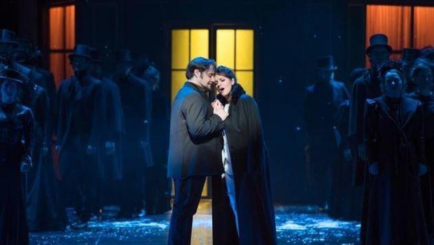 """""""Rodolfo"""" Luciano Ganci und """"Mimi"""" Shelley Jackson in brüchiger Zuneigung. (Bild: SL/Anna-Maria Löffelberger)"""