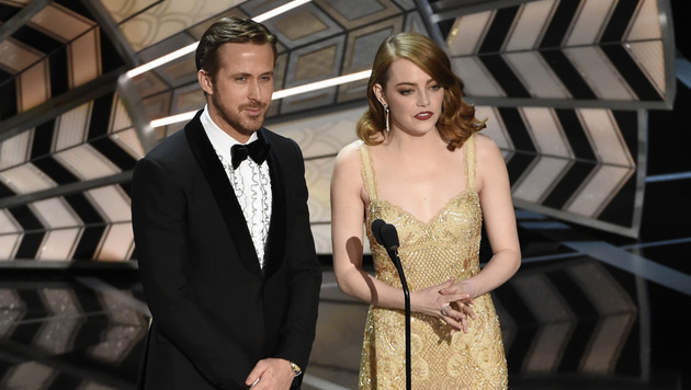 Ryan Gosling und Emma Stone (Bild: Chris Pizzello/Invision/AP)
