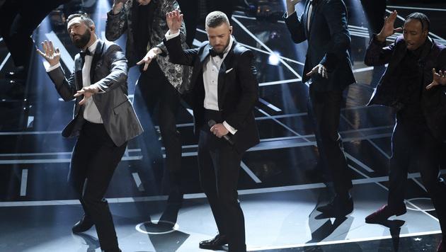 Justin Timberlake eröffnete die 89. Oscargala. (Bild: Chris Pizzello/Invision/AP)