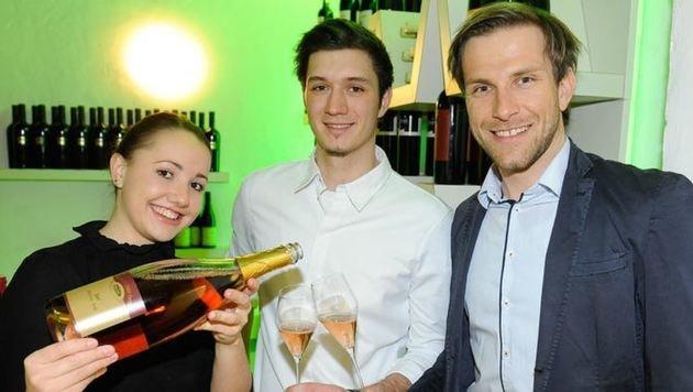 Weinsommelier Viktoria Engelhardt, Koch Josef Kellner und Steuerberater Thomas Rest. (Bild: Roland Holitzky)