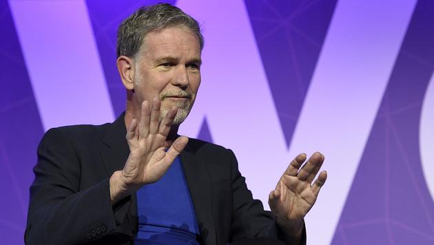 Netflix-Chef Hastings umwirbt Mobilfunker (Bild: AFP)