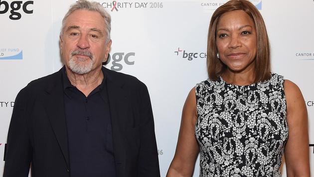 Robert De Niro mit Ehefrau Grace Hightower (Bild: Larry Busacca/Getty Images for Cantor Fitzgerald/AFP)