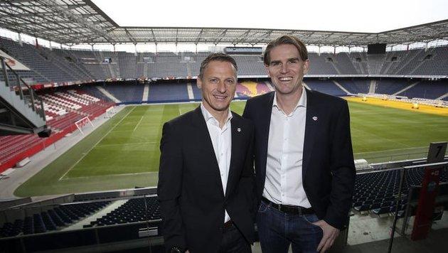 Stephan Reiter und Christoph Freund (Bild: Andreas Tröster)