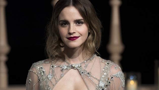 Emma Watson bezaubert mit roten Lippen und strahlendem Teint. (Bild: AFP)