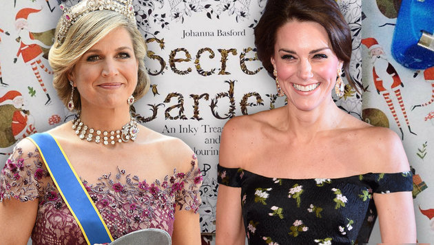 Immer entspannt: Königin Maxima und Herzogin Catherine (Bild: instagram.com, APA/AFP/ JONATHAN NACKSTRAND, Viennareport)